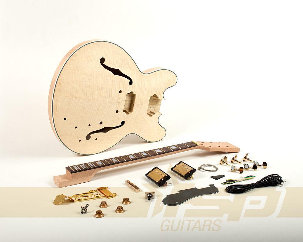 Best ideas about DIY Veneer Kit . Save or Pin Semi Hollow Mahogany Body DIY Electric Guitar Builder Kit Now.