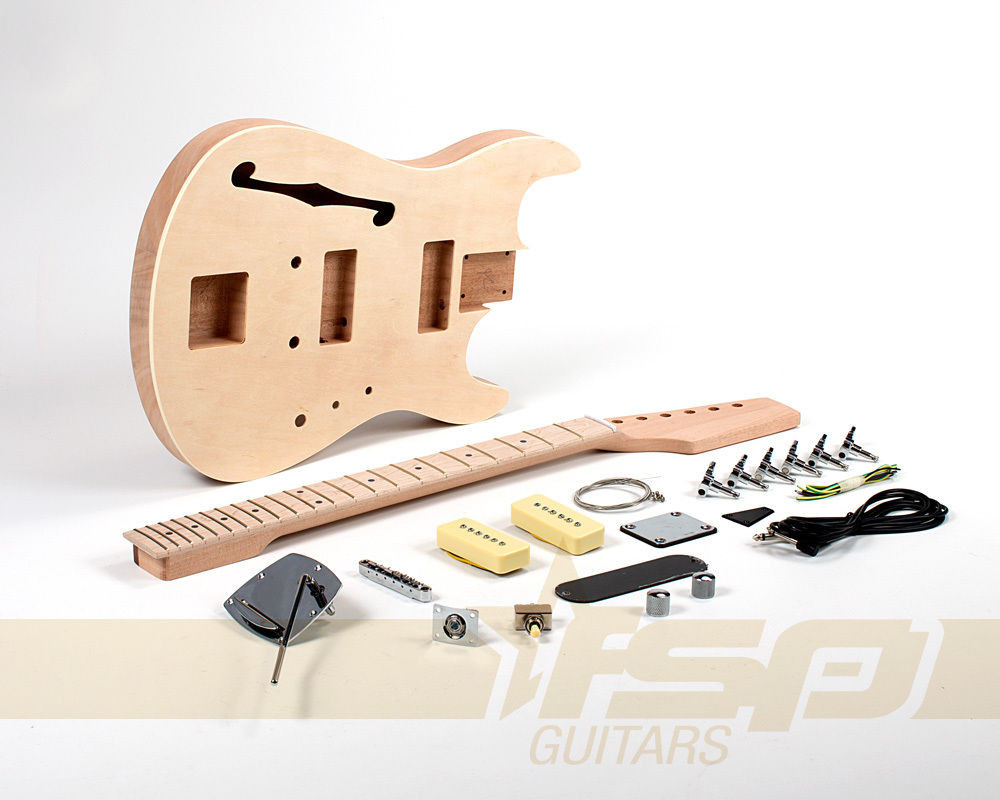 Best ideas about DIY Veneer Kit . Save or Pin Semi Hollow Mahogany Body DIY Electric Guitar Kit Project Now.
