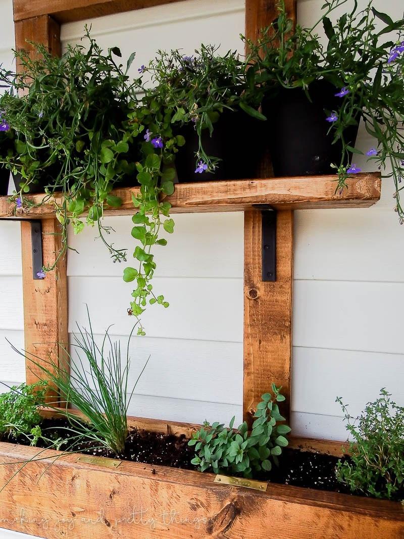Best ideas about Diy Vertical Garden Wall . Save or Pin DIY Vertical Herb Garden and Planter 2x4 Challenge Now.