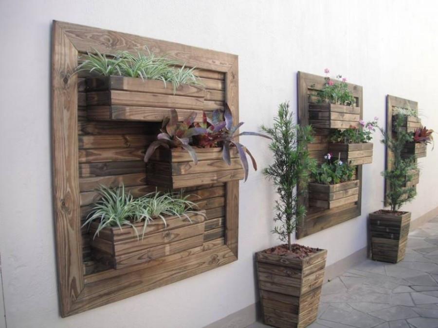 Best ideas about Diy Vertical Garden Wall . Save or Pin Think Green 20 Vertical Garden Ideas Now.