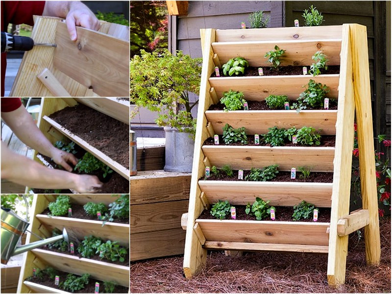 Best ideas about Diy Vertical Garden Wall . Save or Pin How to DIY Vertical Wall Garden Planter Now.