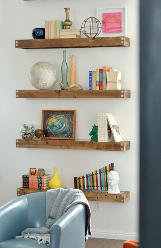 Best ideas about DIY Wall Bookshelf . Save or Pin 20 Creative Ways to Make Your Own Shelves Now.