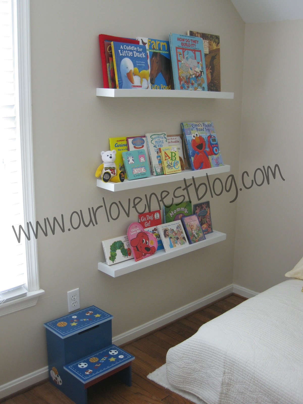 Best ideas about DIY Wall Bookshelf . Save or Pin Our Love Nest DIY Wall Hung Bookshelf & Reading Corner Now.