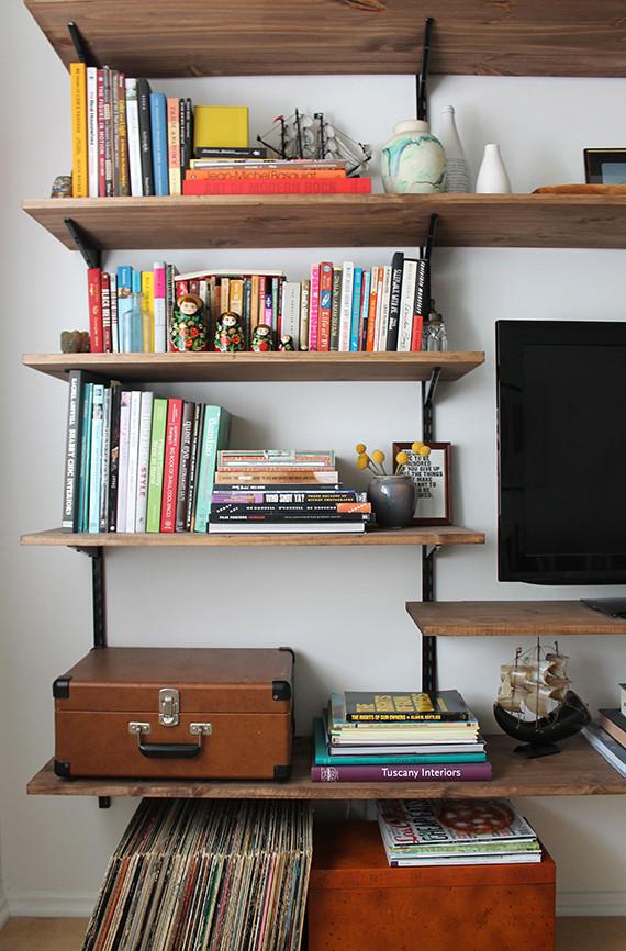 Best ideas about DIY Wall Bookshelf . Save or Pin 40 Easy DIY Bookshelf Plans Now.