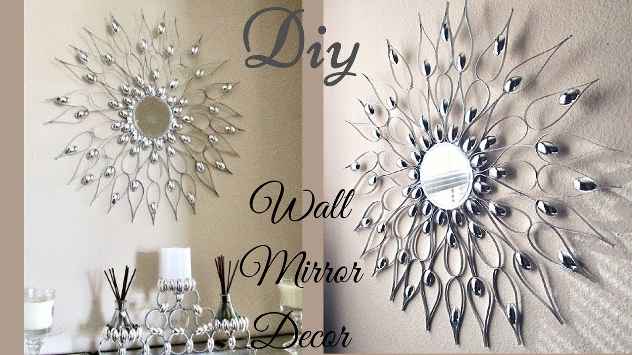 Best ideas about DIY Wall Decoration Ideas . Save or Pin Diy Quick and Easy Glam Wall Mirror Decor Wall Decorating Now.