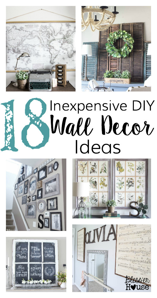 Best ideas about DIY Wall Decoration Ideas . Save or Pin 18 Inexpensive DIY Wall Decor Ideas Bless er House Now.