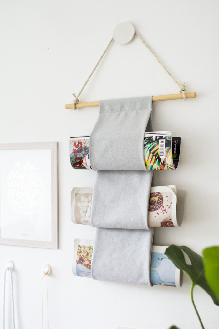 Best ideas about DIY Wall Hangers . Save or Pin DIY Canvas Magazine Hanger – Design Sponge Now.