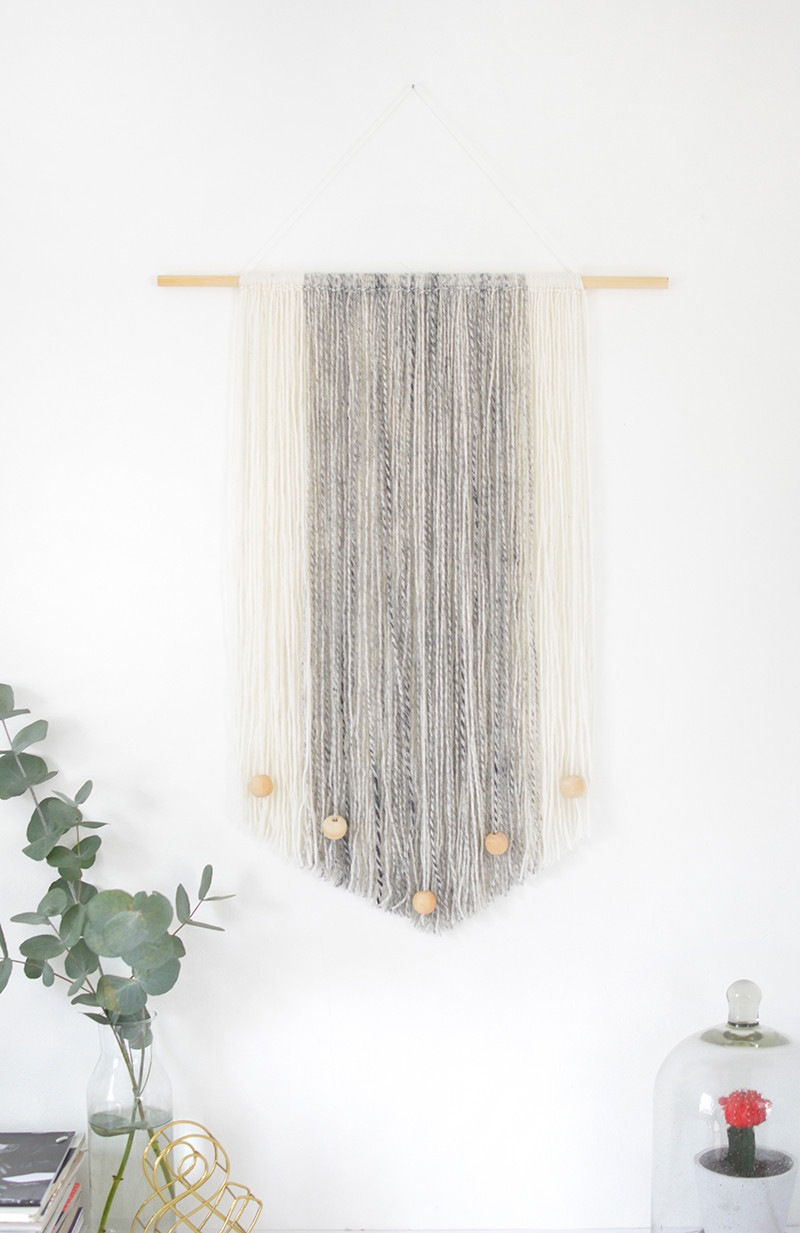 Best ideas about DIY Wall Hangers . Save or Pin DIY yarn wall hanging Now.