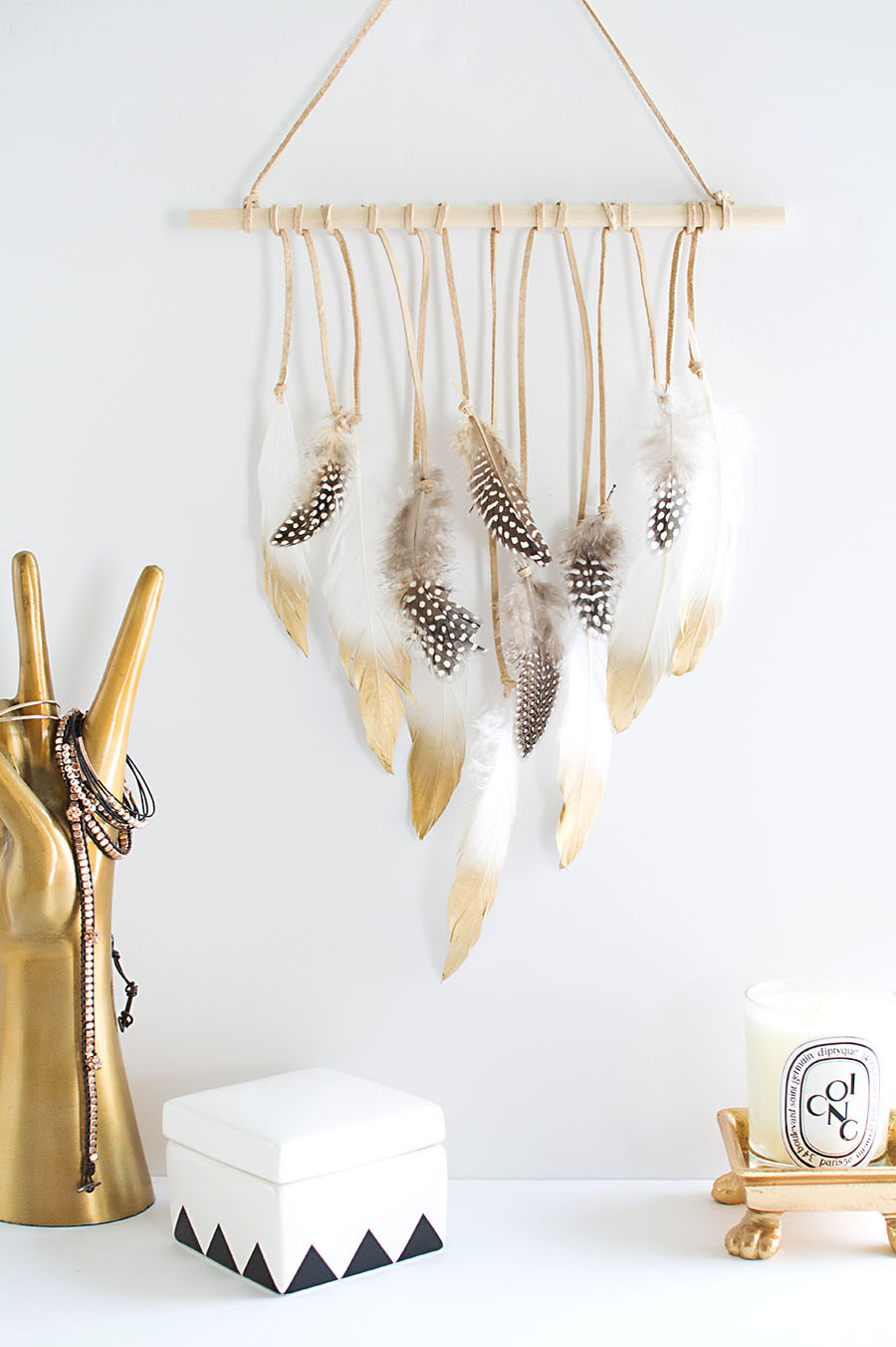 Best ideas about DIY Wall Hangers . Save or Pin DIY Modern Yarn Hanging Homey Oh My Now.