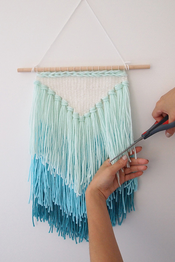 Best ideas about DIY Wall Hangers . Save or Pin DIY weaving How to make a tassel wall hanging Now.