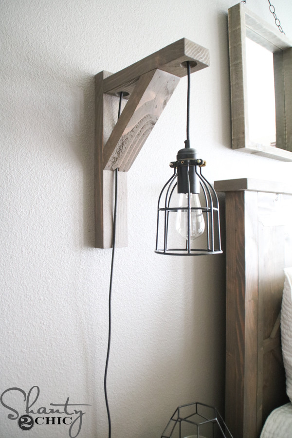 Best ideas about DIY Wall Lighting . Save or Pin DIY Corbel Sconce Light for $25 Shanty 2 Chic Now.