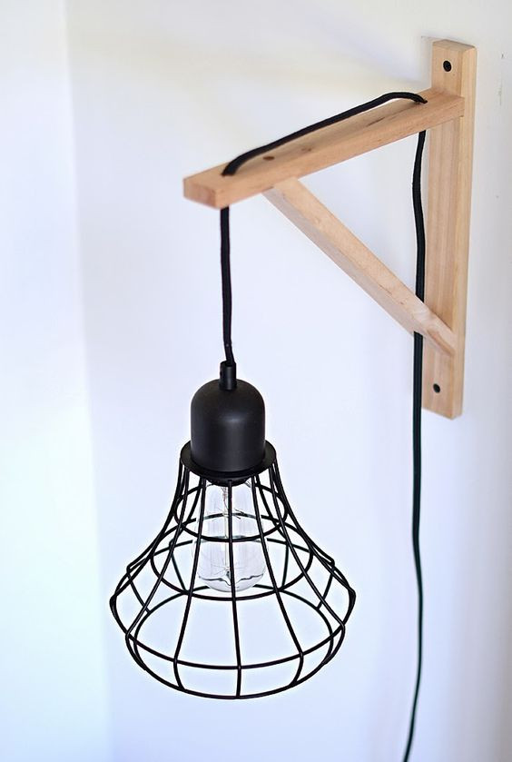 Best ideas about DIY Wall Lighting . Save or Pin DIY Cage Light Sconces Use it by the couch with wrought Now.