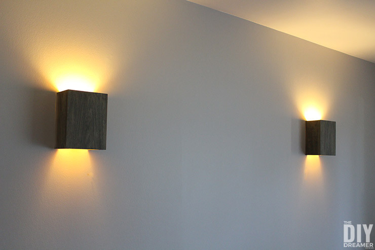 Best ideas about DIY Wall Lighting . Save or Pin How to Build Wall Light Fixtures DIY Wood Wall Sconces Now.