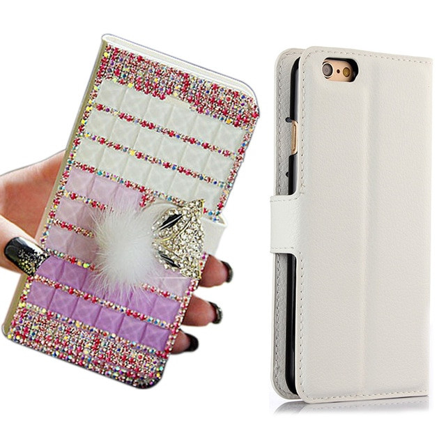 Best ideas about DIY Wallet Phone Case . Save or Pin Handmade DIY Full Bling Fox Head PU Leather Stand Flip Now.
