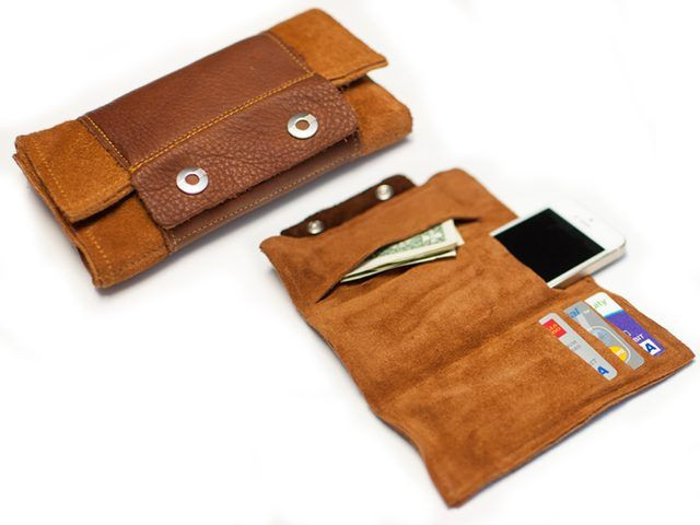 Best ideas about DIY Wallet Phone Case . Save or Pin How to Make a Leather Wrap Wallet misc crafts Now.