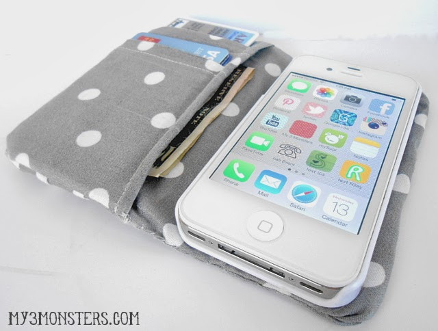 Best ideas about DIY Wallet Phone Case . Save or Pin My 3 Monsters DIY Ruffled iPhone Wallet Now.
