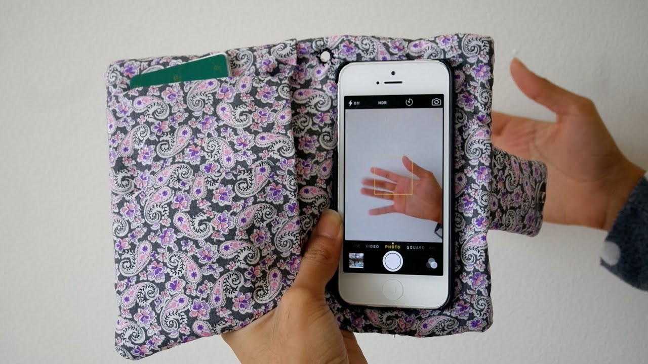 Best ideas about DIY Wallet Phone Case . Save or Pin DIY Wristlet Phone Case Wallet 3 in 1 Now.