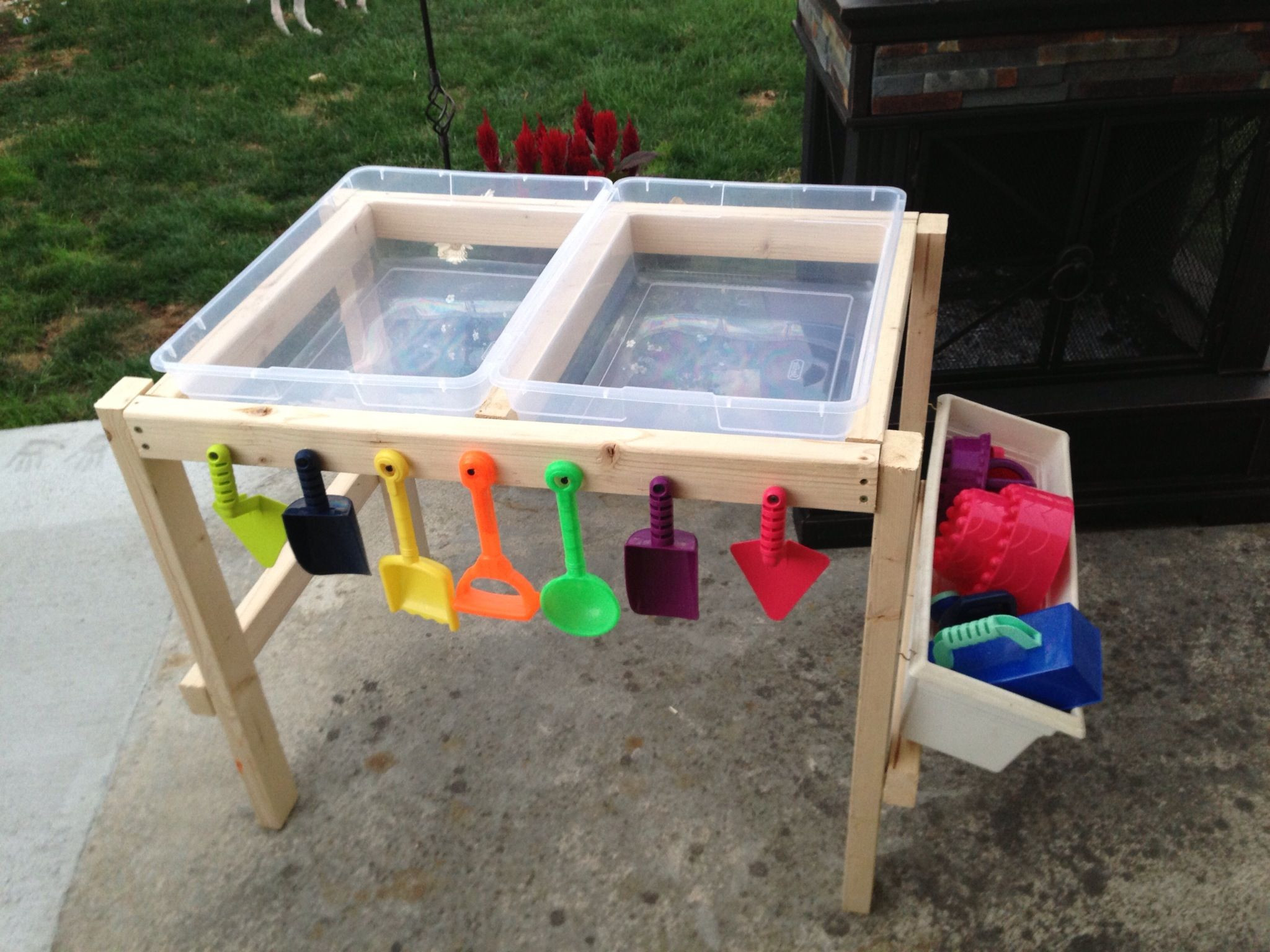 Best ideas about DIY Water Table For Kids . Save or Pin Water and sand table made by nana with love Now.