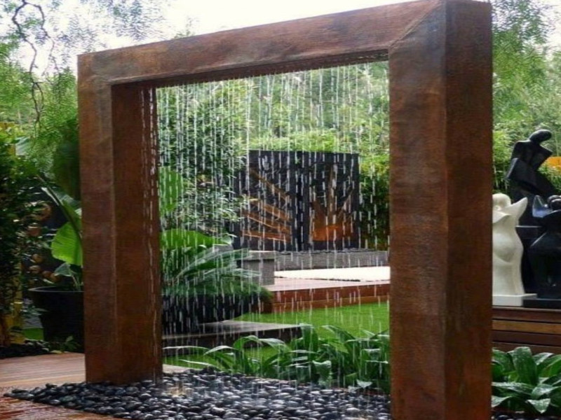 Best ideas about DIY Water Wall Kit . Save or Pin Indoor patio ideas diy outdoor water wall fountain Now.
