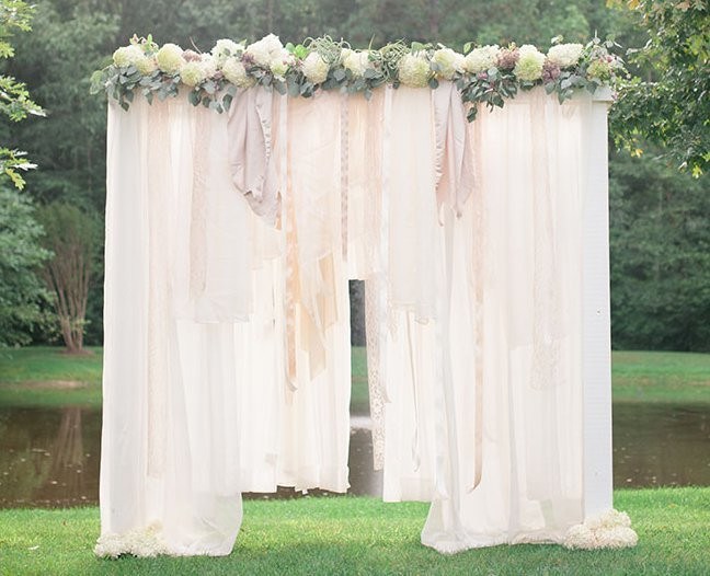 Best ideas about DIY Wedding Altar . Save or Pin Breathtaking Bohemian Outdoor Wedding Altar Now.