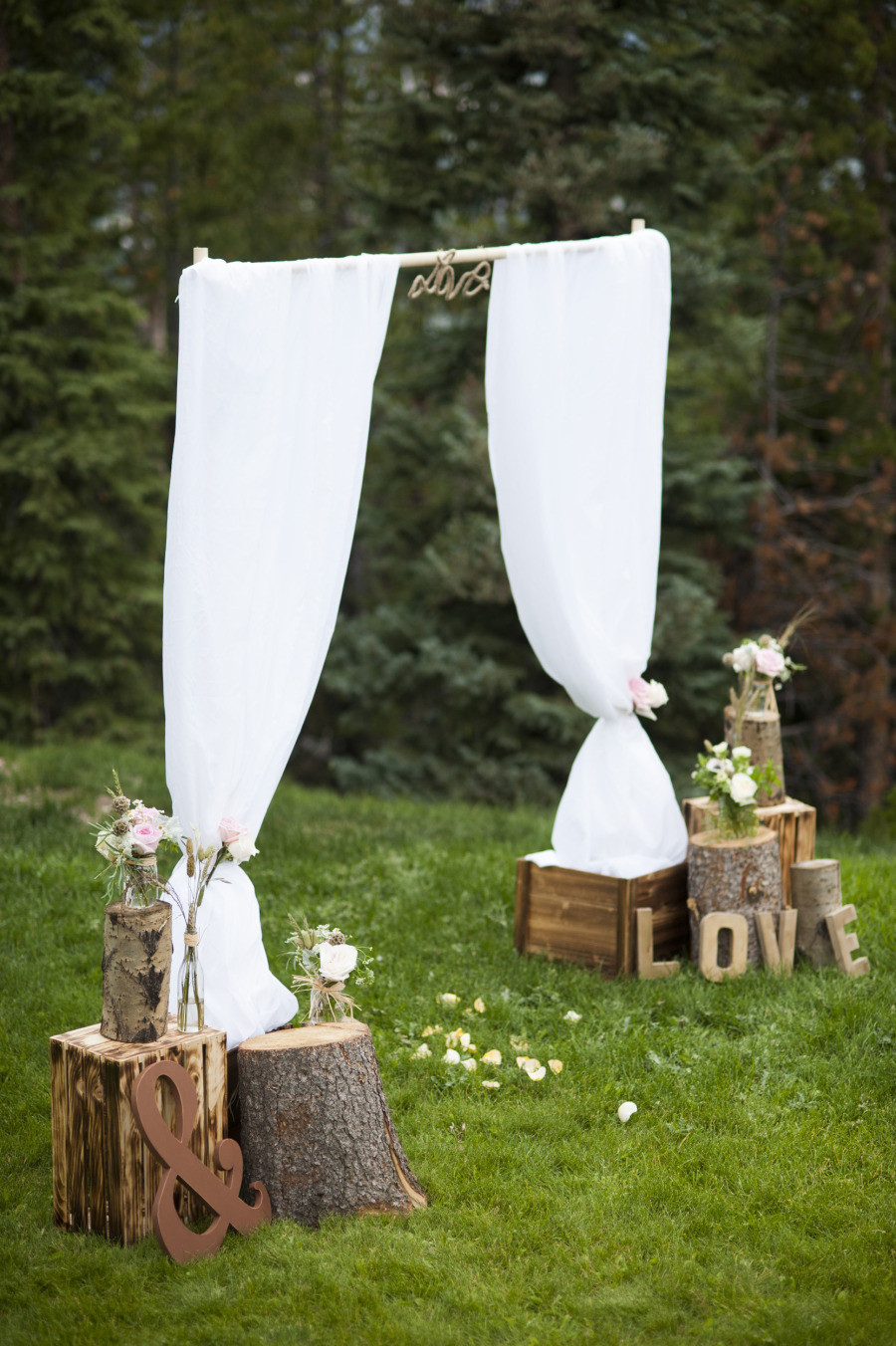 """Best ideas about DIY Wedding Altar . Save or Pin Say """"I Do"""" to These Fab 51 Rustic Wedding Decorations Now."""