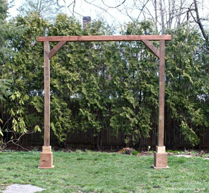 Best ideas about DIY Wedding Arch Frame . Save or Pin DIY Self Standing Wood Arch Jaime Costiglio Now.