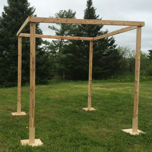 Best ideas about DIY Wedding Arch Kits . Save or Pin White Cedar Chuppah Set Now.