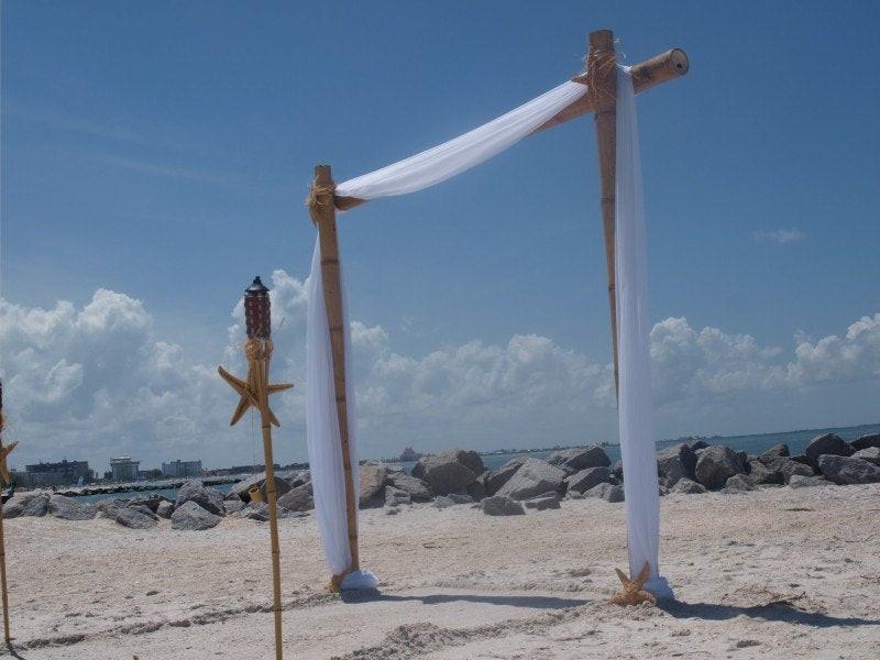 Best ideas about DIY Wedding Arch Kits . Save or Pin Bamboo Wedding Arch Beach Wedding Arch Bamboo Chuppah Wedding Now.