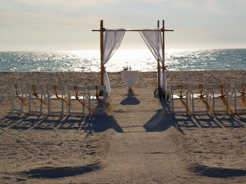 Best ideas about DIY Wedding Arch Kits . Save or Pin Beach Wedding Bamboo Arch Kit With Fabric Draping Now.