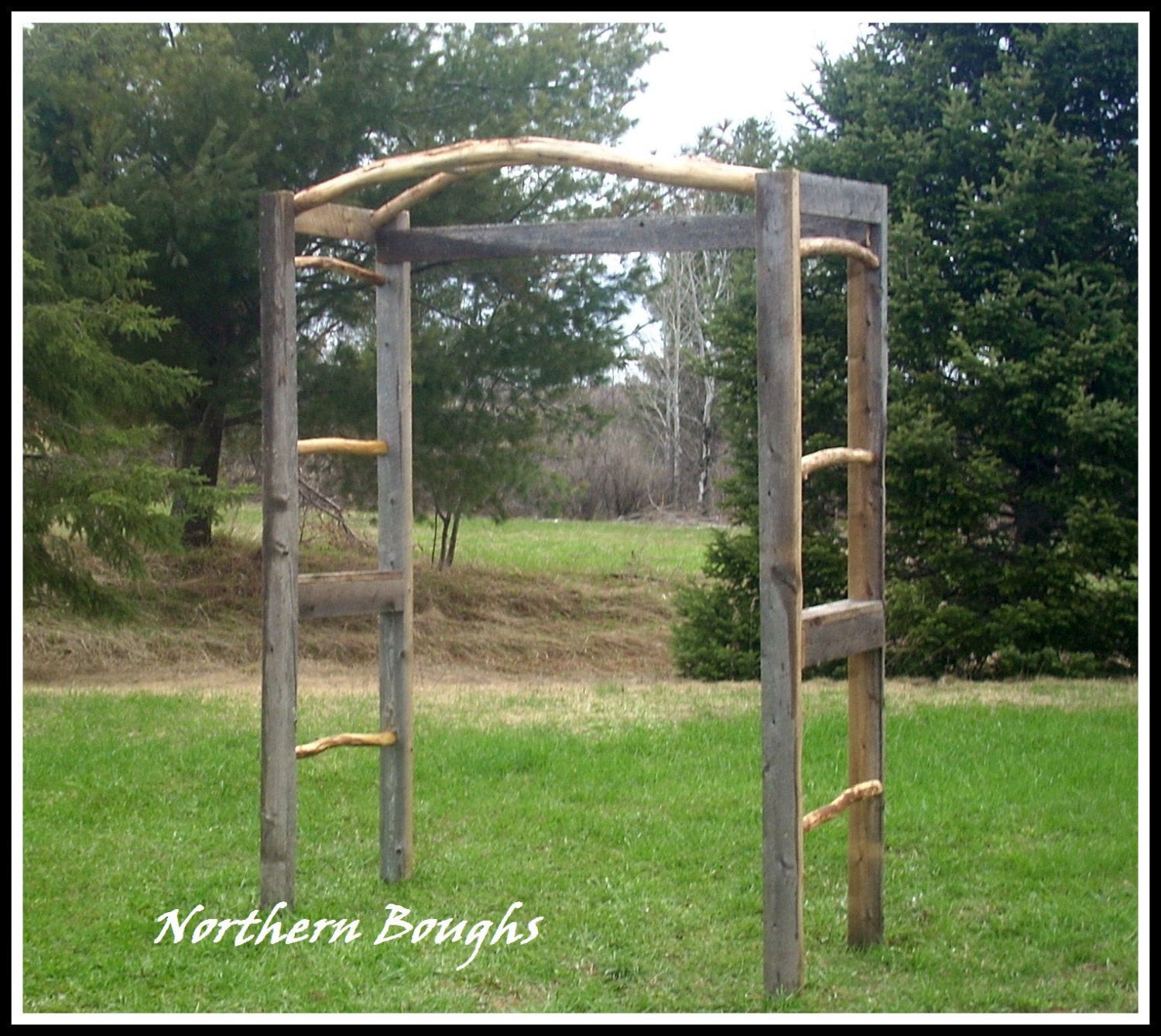 Best ideas about DIY Wedding Arch Kits . Save or Pin Items similar to Weathered White Cedar Rustic Wedding Arch Now.