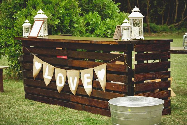 Best ideas about DIY Wedding Bar . Save or Pin Every rustic outdoor wedding needs a DIY pallet bar By Now.