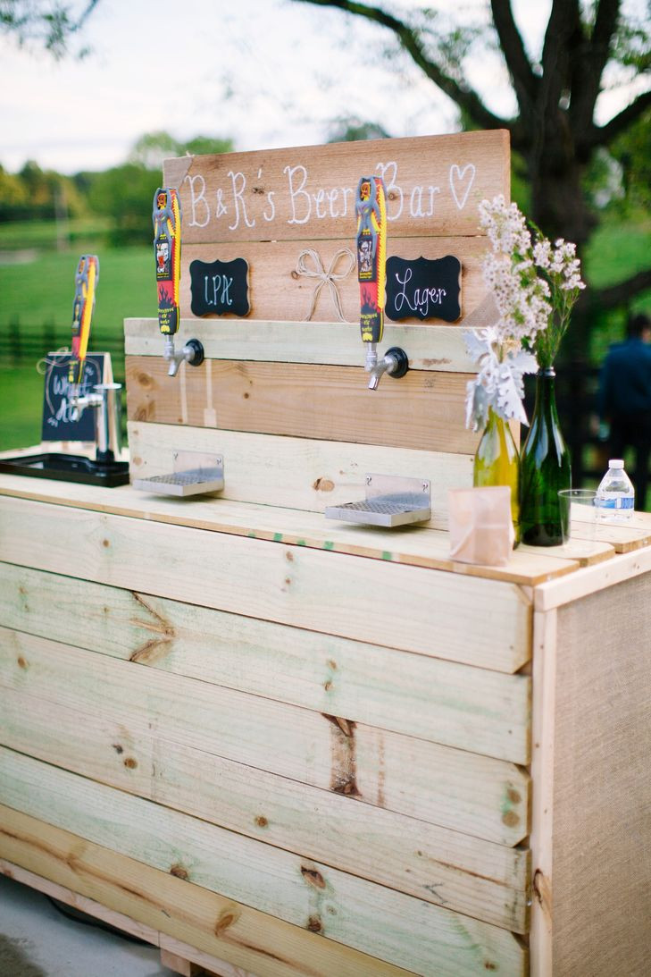 Best ideas about DIY Wedding Bar . Save or Pin DIY Beer Bar at Cocktail Hour Now.