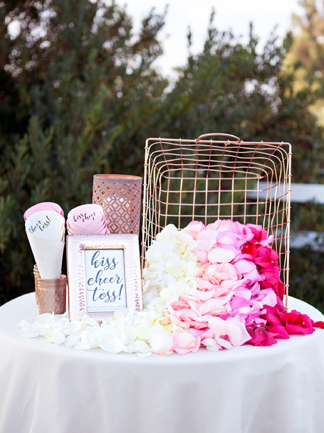 Best ideas about DIY Wedding Bar . Save or Pin You ve Got To See This Darling DIY Petal Toss Bar Now.