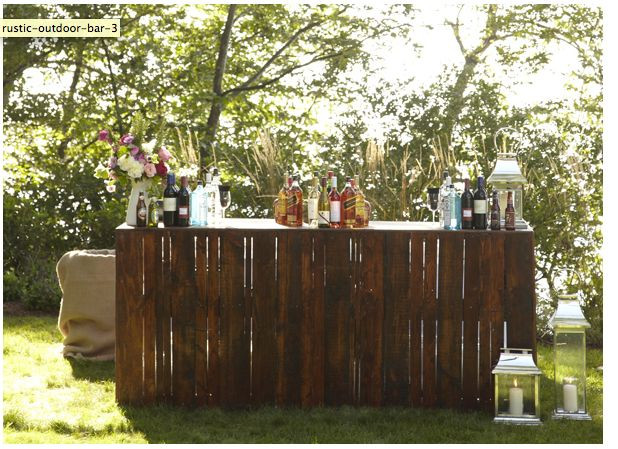 Best ideas about DIY Wedding Bar . Save or Pin rustic bar out door bar wood pallets Now.