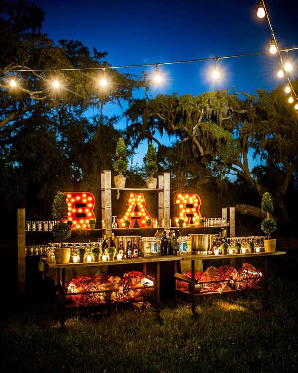 Best ideas about DIY Wedding Bar . Save or Pin 20 Attractive and Unique Outdoor Wedding Bar Ideas Now.