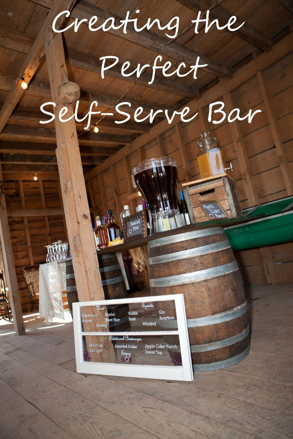 Best ideas about DIY Wedding Bar . Save or Pin Creating a DIY Self Serve Bar at Your Wedding or Special Now.