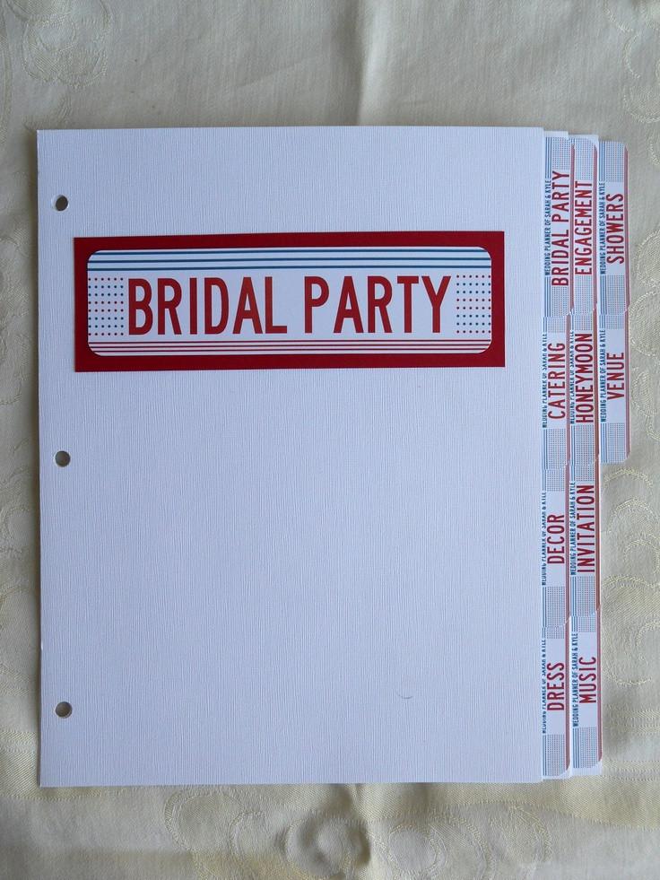 Best ideas about DIY Wedding Binder . Save or Pin DIY wedding binder tabs Huge time saver and organizer Now.
