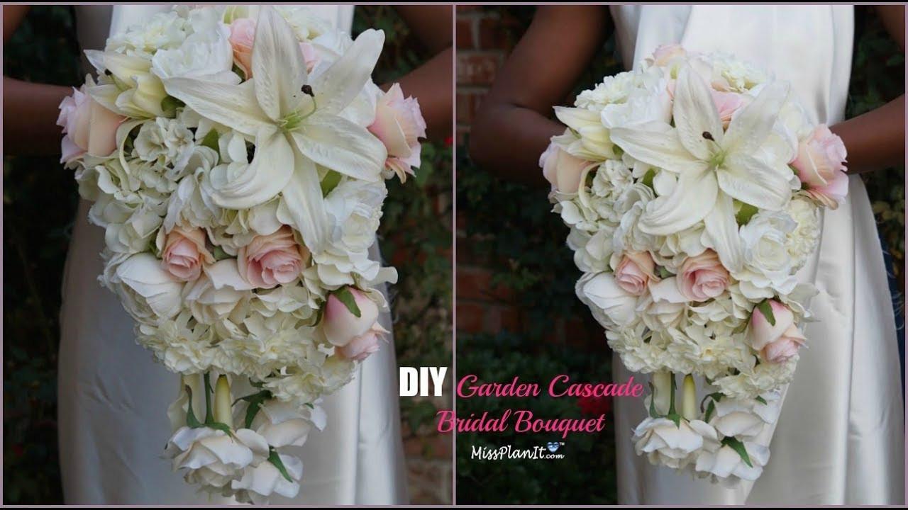 Best ideas about DIY Wedding Bouquet . Save or Pin DIY Garden Cascading Bridal Wedding Bouquet Now.
