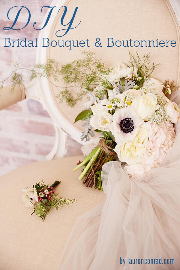 Best ideas about DIY Wedding Bouquet . Save or Pin Wedding Bells DIY Bridal Bouquet and Boutonnière Lauren Now.