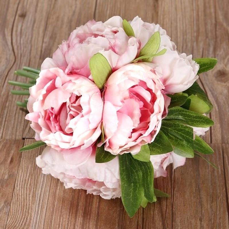 Best ideas about DIY Wedding Bouquet Silk Flowers . Save or Pin DIY Bridal Wedding Party Bouquet Posy Silk Flowers Now.