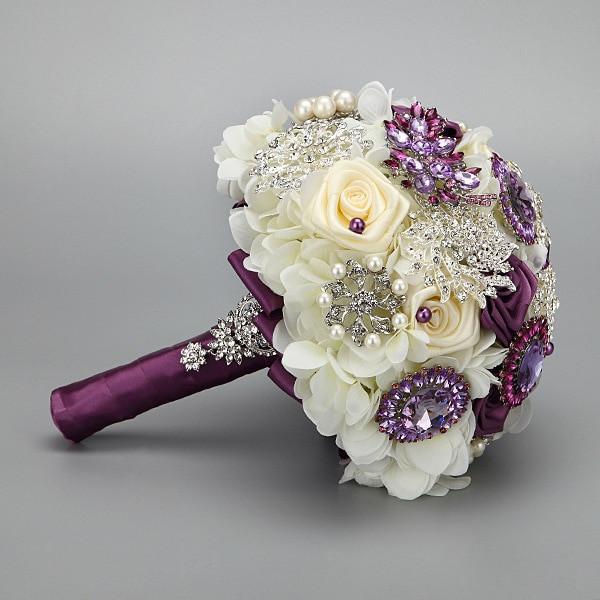 Best ideas about DIY Wedding Bouquet Silk Flowers . Save or Pin Handmade Fashion wedding brides bouquet Brooch Crystal Now.