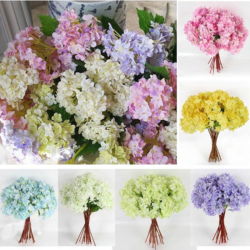 Best ideas about DIY Wedding Bouquet Silk Flowers . Save or Pin Bridal Wedding Party Artificial Fake Hydrangea Silk Flower Now.