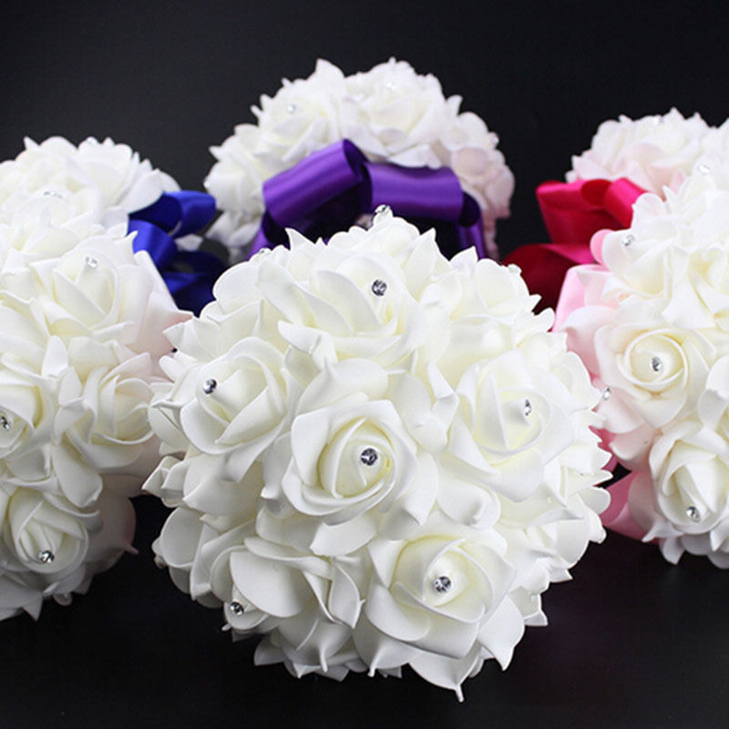 Best ideas about DIY Wedding Bouquet Silk Flowers . Save or Pin 1 Bouquet Crystal Bridal Wedding Bouquet Silk Flower Now.