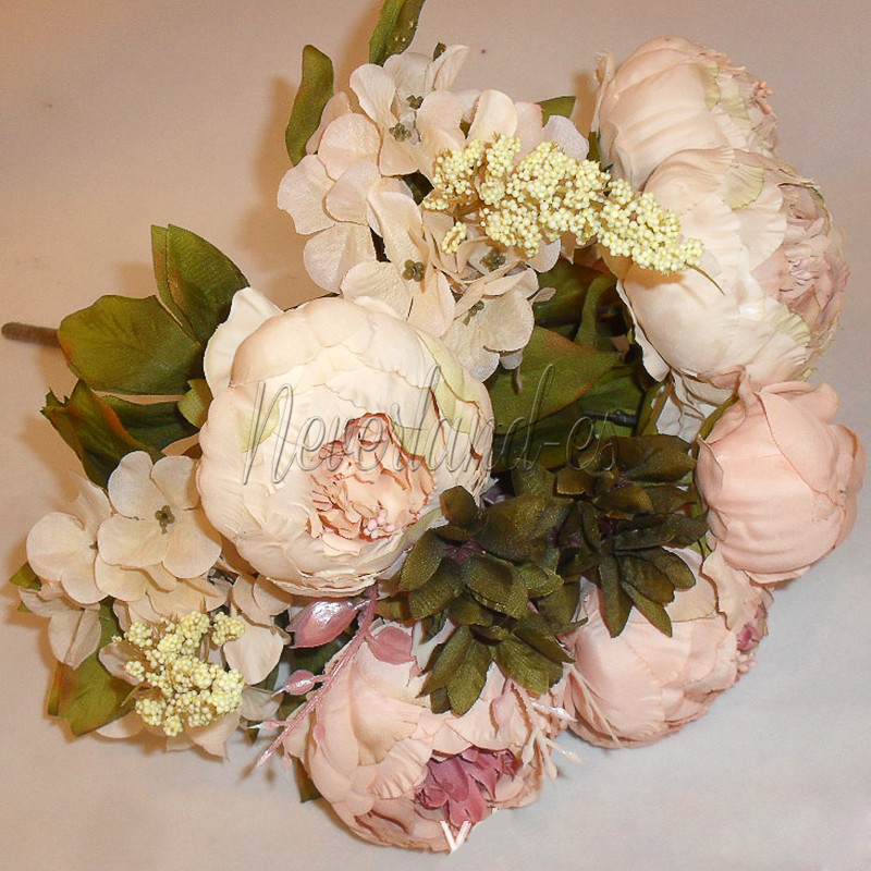 Best ideas about DIY Wedding Bouquet Silk Flowers . Save or Pin 1 Bouquet 13Head Vintage Artificial Silk Fake Peony Flower Now.