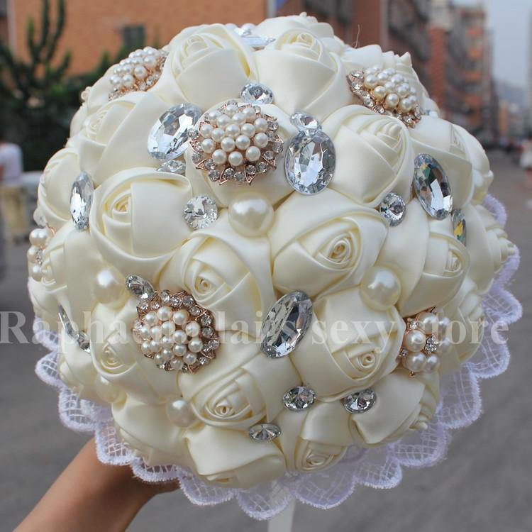 Best ideas about DIY Wedding Bouquet Silk Flowers . Save or Pin New Wedding Ivory Silk Rose Wedding Bouquet Decorative DIY Now.