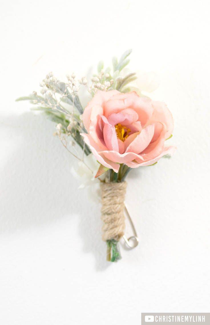 Best ideas about DIY Wedding Boutonniere . Save or Pin DIY Blush Boutonniere ♥ Wedding Love in 2019 Now.