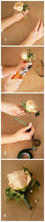 Best ideas about DIY Wedding Boutonniere . Save or Pin DIY Wedding Flowers Homemade Boutonnieres Now.