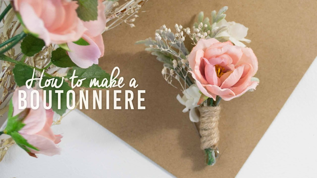Best ideas about DIY Wedding Boutonniere . Save or Pin DIY Basic Boutonniere Now.