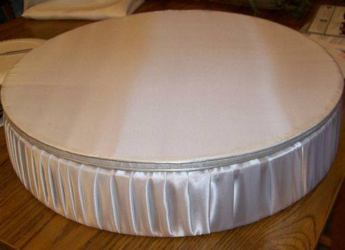 Best ideas about DIY Wedding Cake Stands . Save or Pin DIY Cake Stand Satin covered do this but square 2x4 Now.
