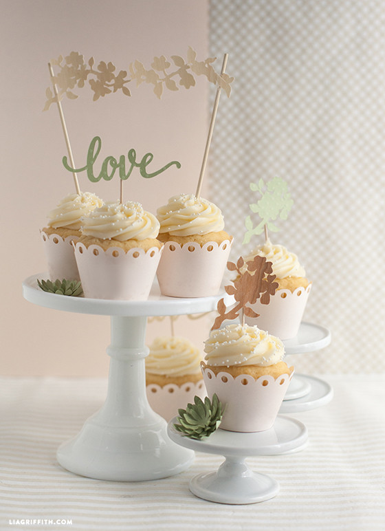 Best ideas about DIY Wedding Cake Topper . Save or Pin DIY Wedding Cake and Cupcake Topper Lia Griffith Now.